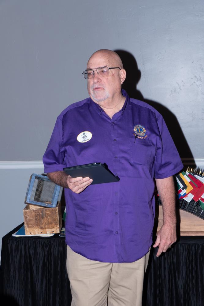 District Governor David Hamilton